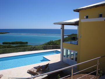 Culebra house rental - Unforgettable ocean view of the house to the Las Pelás Bay.