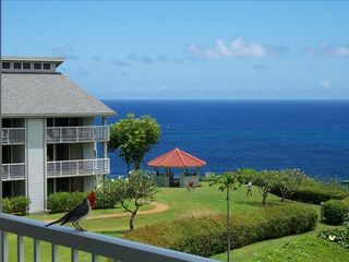 Princeville condo photo - Enjoy morning coffee at sunrise on the lanai just off the living room and kitche