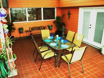New Orleans condo rental - Beautiful Patio, with gas BBQ grill, fountain, seating for 8