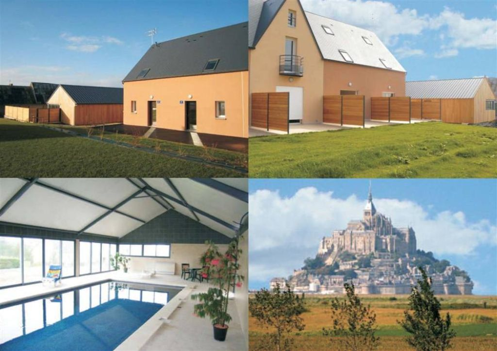 G te avec piscine couverte proche mont saint michel for Camping mont saint michel piscine couverte