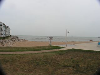 Port Clinton condo photo - Private Beach next to pool