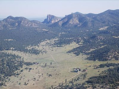 THE DOUBLE CIRCLE RANCH at the foot of the Sawtooth Mountains near Pie Town, NM