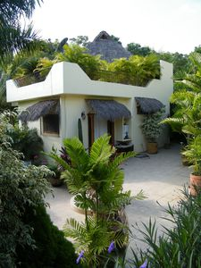 Sayulita house rental - Casa and courtyard seen from near pool