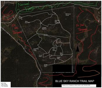 Nature Lover's dream.  Overview of property and trail system on the Ranch.