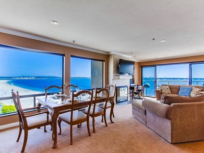 Stunning bay views seen out windows galore. Dine with an incredible view!