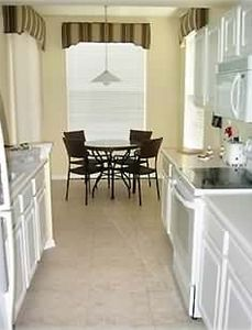 Galley Kitchen To Breakfast Nook Lake View.