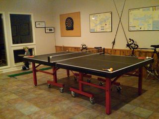 Greers Ferry Lake house photo - Game area in lower level w/premium Ping Pong, Dart Game, Bikes & Golf Putting