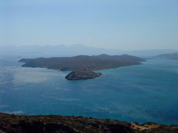 view on leper colony of spinalonga
