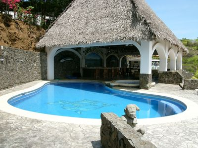 Private pool and entertainment area.