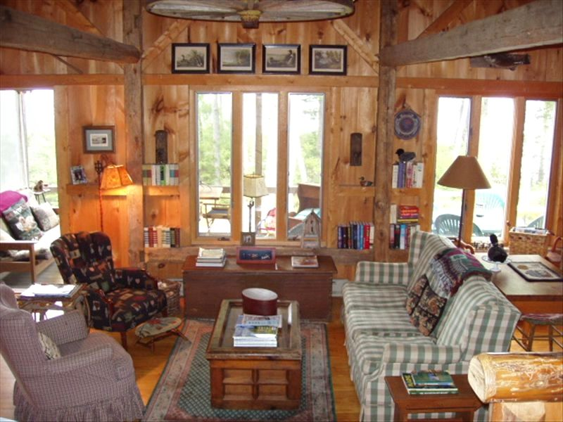 BIRK CABIN: Upscale Cabin on Beautiful Toddy Pond in Blue Hill, ...
