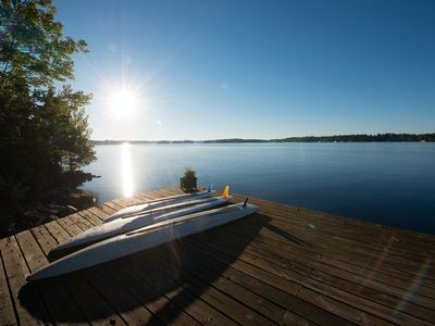 Sun on the swimming dock all day long.