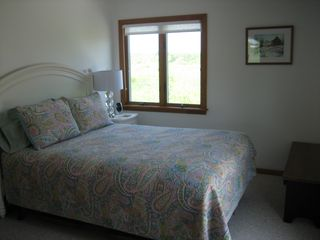 Moody Beach house photo - Queen Bedroom Overlooks Wildlife Refuge; Door Opens to Back Deck