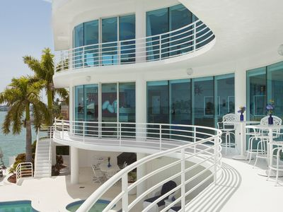 Contemporary Waterfront Custom Built Glass Home Large