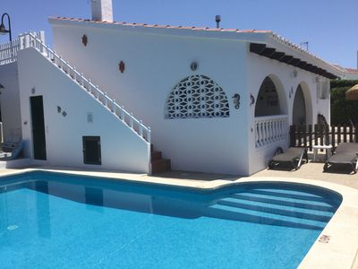 2 Bedroom detached villa in Binibeca Vell with private pool & seaviews