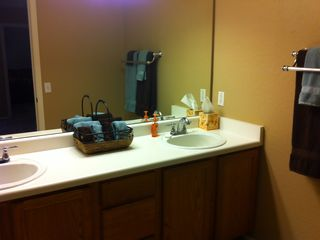 Master bathroom. Kathi and Cheryl want you to feel at home.