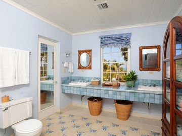 Master bath with ocean views