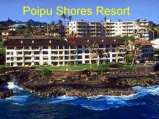 Poipu condo photo - Our condo is on the fourth floor, in the center. See pointer