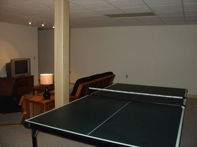 Ping pong table in the rec room