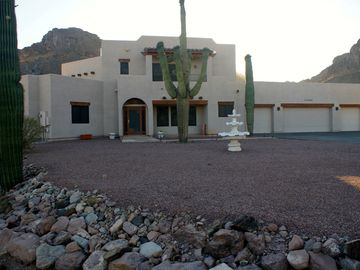 San Tan Valley house rental - The front of the beautiful home that borders the San Tan Mountains Regional Park