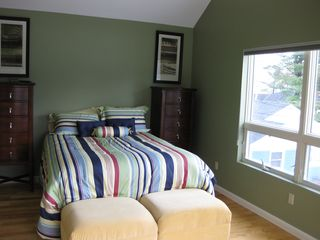Ogunquit house photo - Queen size bed with Ocean and Ogunquit River views.
