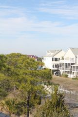 Folly Beach townhome photo - View of Folly River, marsh and inlet from master bedroom balcony