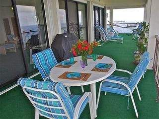 Water Island house photo - Covered South veranda view with gas grill