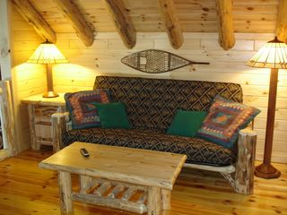 Den with futon & 2nd TV - Colton cottage vacation rental photo