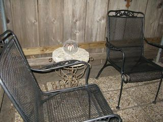 Austin house photo - Private and secured outdoor sitting area adjacent to kitchen