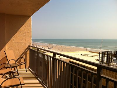 32 ft balcony overlooking beach, ocean , and pool