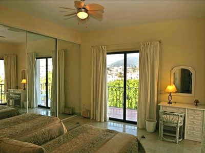 Guest twin bedroom with huge wardrobes, independent balcony with mountains views