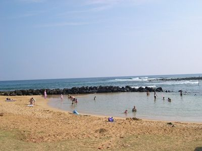 "Poipu beach has a protected area for children called ""baby beach""."