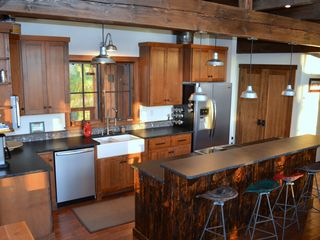 Georgetown Lake house photo - Make a gourmet meal or just strong Montana coffee in this well-equipped kitchen.