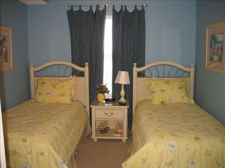 Second bedroom with 2 twins and nice coastal theme - Majestic Sun condo vacation rental photo