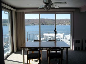 South, West and Northern Lake Views all from the dining room or upper deck