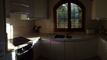New well equipped kitchen, with wide angled lens