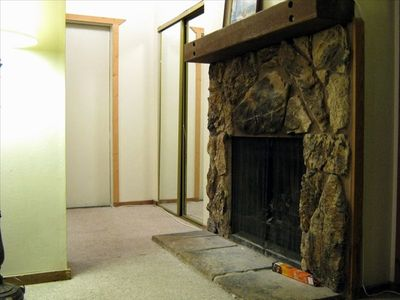 Fireplace and Closet in Master Bedroom