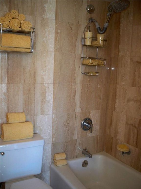 Italian Marble Walls and Flooring W/ Luxurious Rain Showerhead for Unwinding!!