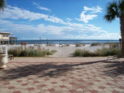 This is our deeded access onto the beach -