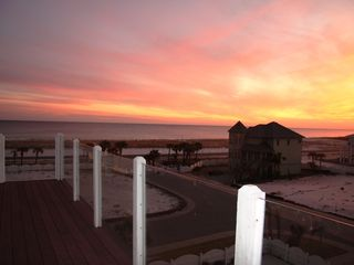 Pensacola Beach house photo - Winter Sunset from 3rd level decks.