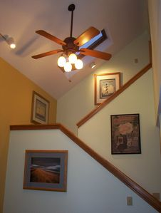 Open Stairway With Skylights