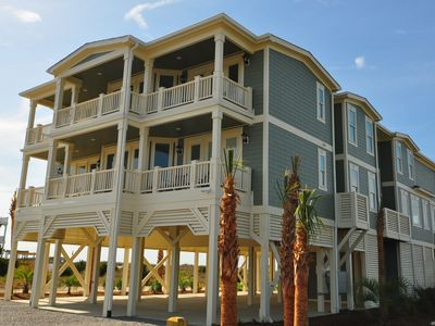 Holden Beach house rental - View from Street, parking for 26 cars