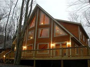 Canaan Valley house rental - Front of House- 5 minute walk to Timberline lodge near Salamander.
