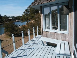 Chincoteague Island house photo - Enjoy 3 decks on water - see Assateague in distanc