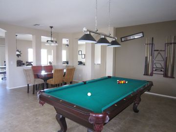 The game room offers great family entertainment and maybe a little competition!