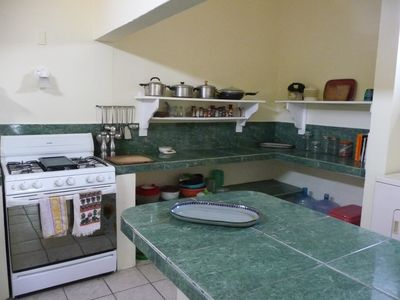 KITCHEN, with center isle for cooking or eating.