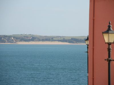 View to Caldey Island from Woodbine Cottage