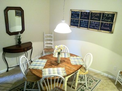 Rehoboth Beach condo rental - The dining room seats 6 and is open to the couch and seating area