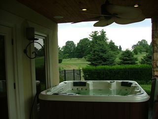 Louisville estate photo - Pool house and hot tub
