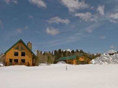 West Yellowstone house rental - Winter in Yellowstone, you can ski or sled in and out