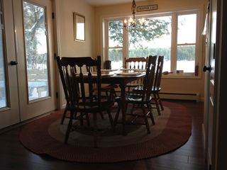 Oxford house photo - Dining area (can seat up to 8) with beautiful view of lake